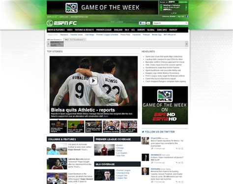 espnfc officially launches with worldwide soccer coverage