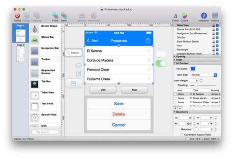 layout creator osx mocks a powerful native ui mockup tool for mac os x