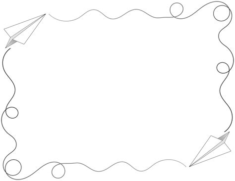How To Make Paper Borders - clipart paper airplane border