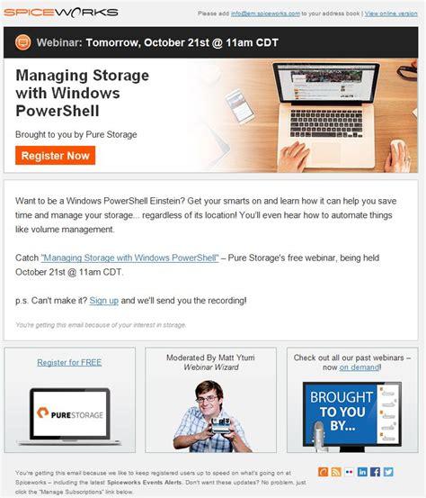 52 Best Images About B2b Email Designs Swipe File On Pinterest Business Intelligence Digital Webinar Design Template