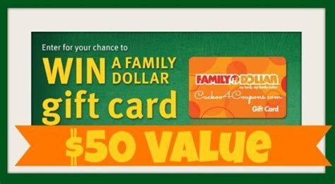 Target 5 Dollar Gift Card - giveaway 50 family dollar gift card 1 1 coupon posts coupon and cards