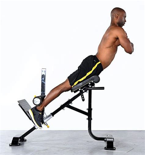 hyperextension bench workouts strengthen the muscles of the lower back and relief pain
