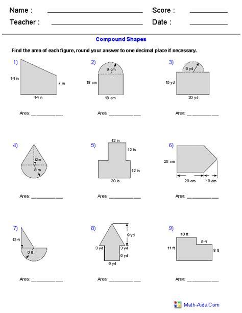 area and perimeter of composite figures worksheet geometry worksheets area and perimeter worksheets