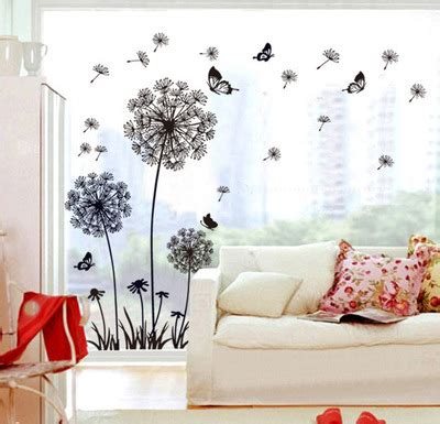 living room archives butterfly home decor diy flying dandelion flower butterfly wall stickers living