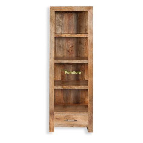 narrow bookshelves tns furniture mansa mango narrow bookcase