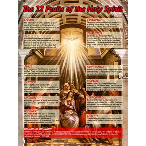 8 fruits of the holy spirit 12 fruits of the holy spirit laminated teaching poster