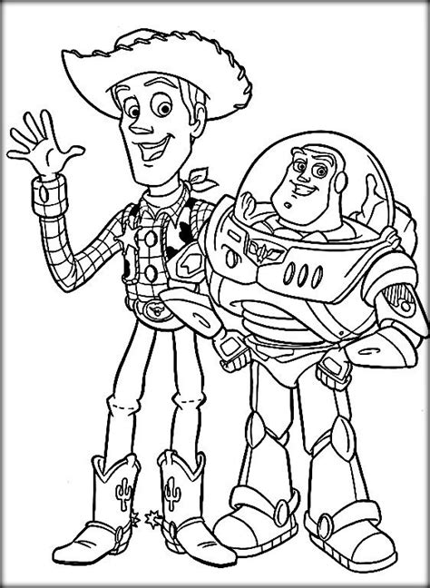 woody coloring pages disney story coloring pages buzz woody color zini