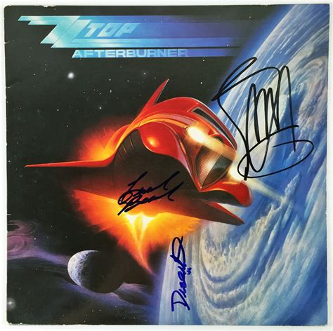 lot detail zz top billy gibbons signed quot lot detail zz top signed quot afterburner quot record