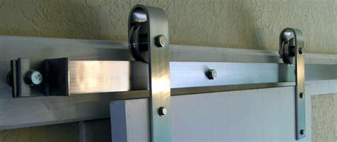 Overhead Sliding Door Hardware This Stainless Steel Overhead Flat Track Rolling Door Hardware Kit Includes All Necessary