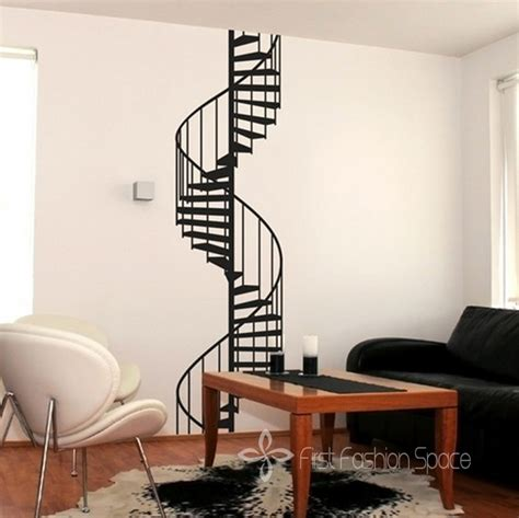 Wall Decals For Living Room New 2015 Vinyl Spiral Staircase Wall Sticker Wall Decals