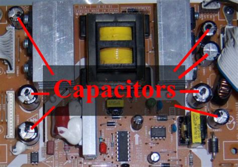 tv bad capacitor my samsung tv wont turn on it is only 2 years could you help me out