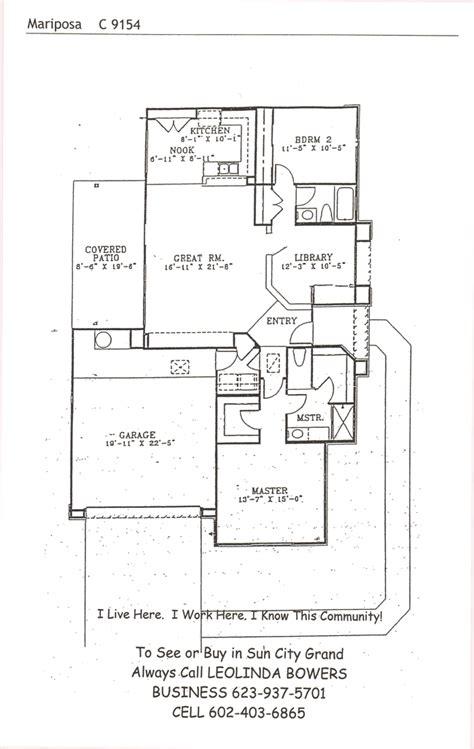 sun city grand floor plans find sun city grand mariposa floor plans leolinda bowers