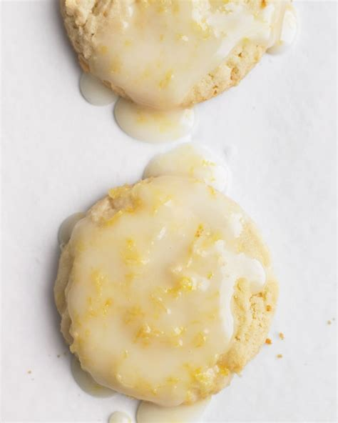 lemon glazed candied ginger cookies recipe dishmaps