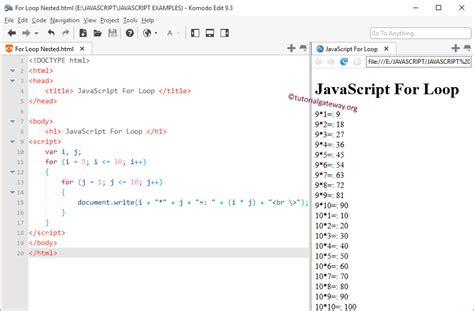 tutorial javascript for loop javascript for loop