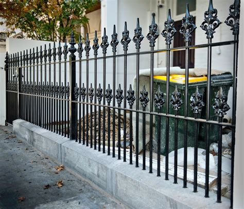 ideas for decorating iron fence posts for christmas wrought iron fences simple and beautiful home ideas collection