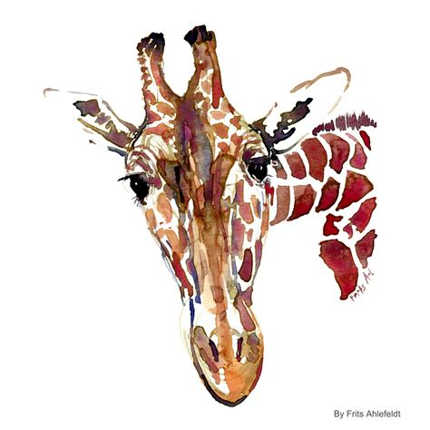 giraffe watercolor sketch the hiking artist project by