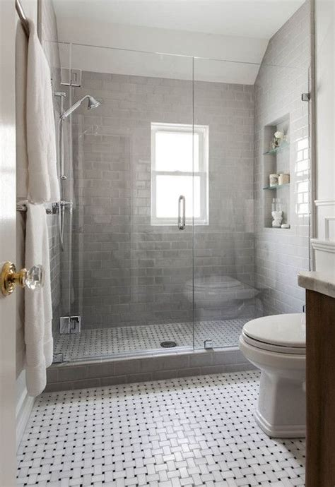 benjamin moore gray owl bathroom shower with gray subway tiles transitional bathroom