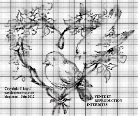 Grille De Point De Croix Gratuite A Imprimer by Grille Gratuite Point De Croix Oiseaux Coeur Pdc