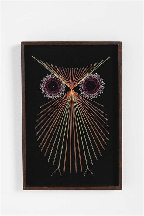 String Owl - threaded owl wall 12x18 outfitters foto s