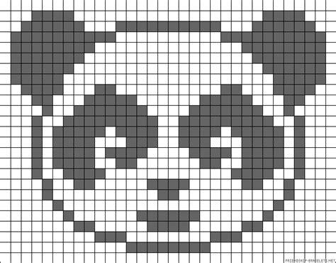 panda pixel template panda perler bead pattern peeler