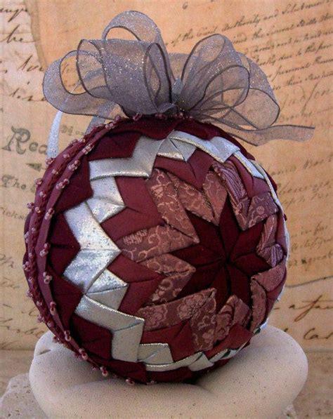fabric folded ornaments folded fabric ornament in mauve and