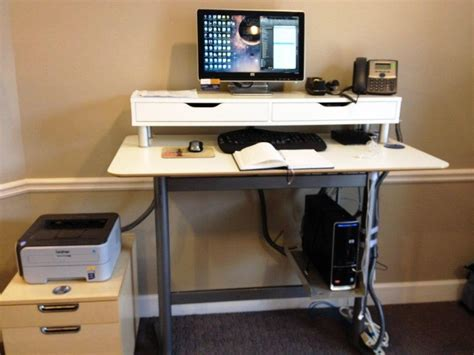 Adjustable Stand Up Desk Ikea Ikea Adjustable Standing Desk