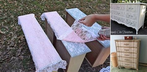 diy furniture refinishing projects diy project refinished dresser using lace home design