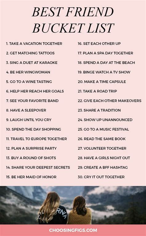 Best Friend Bucket List: 30 Things To Do With Your Best