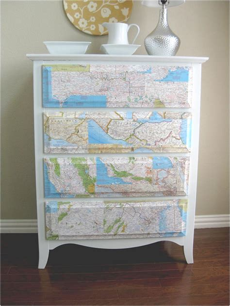 decoupage furniture with maps six ways to recycle maps diy inspired