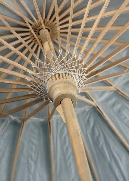 White Bamboo 32in Parasols, Wedding Parasols