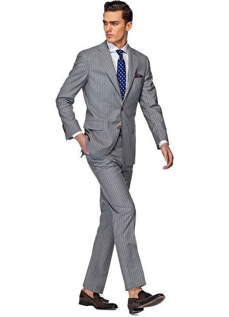 Light Grey Suits by Suit Light Grey Stripe York P3531 Suitsupply Store