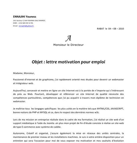 Exemple De Lettre De Demande De Stage Rémunéré Application Letter Sle Exemple De Lettre De Motivation Webmaster