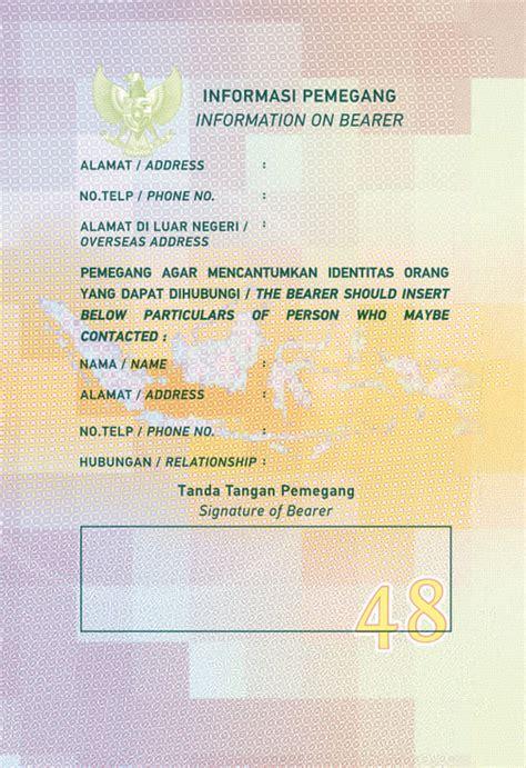 design paspor baru indonesia pemberlakuan paspor design baru
