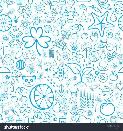 doodle nature nature doodles wallpaper stock vector 75993196