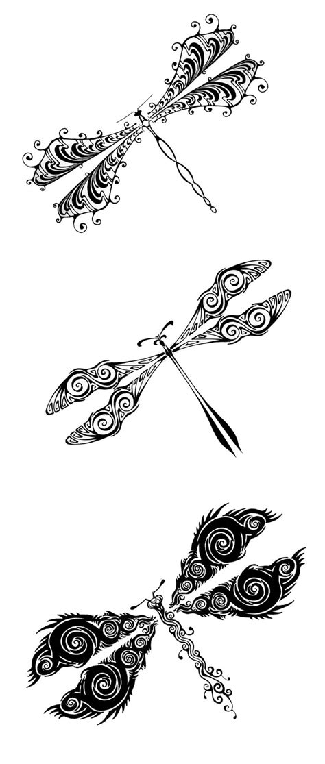 tribal dragonfly tattoos for my sister doodles clipart
