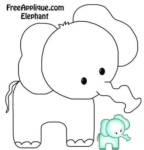cute elephant pattern elephant onesie or burp cloth decorating template baby