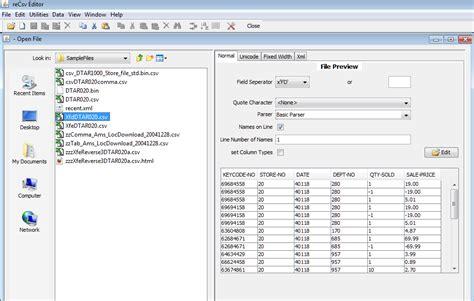 csv format editor recsveditor download sourceforge net