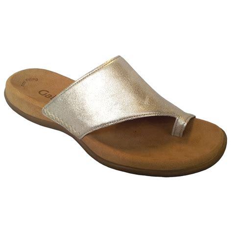 toe sandals gabor lanzarote silver metallic toe post sandal 83