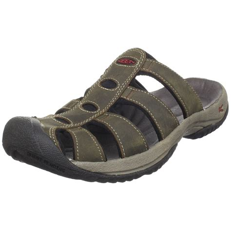 sandals aruba keen mens aruba leather sandal in gray for bison