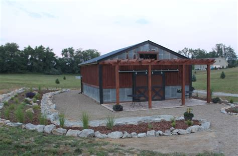Barn Landscaping Project Finished On A Dime Before And The Barn Landscape