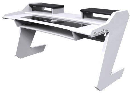 Studio Desk Beat Desk All White Thomann United States Thomann Studio Desk