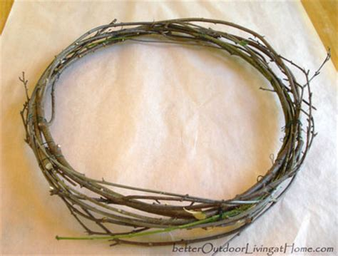 how to make a wreath from branches how to make a twiggy branch wreath better outdoor living at home