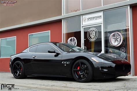 maserati granturismo white black rims maserati quattroporte niche gt 5 m133 wheels satin black