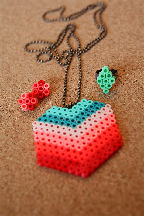perler bead jewelry perler jewelry tutorial