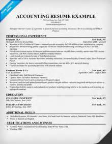 Accounting Supervisor Sle Resume by Account Resume