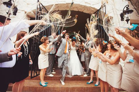 leaving your wedding in style polka dot