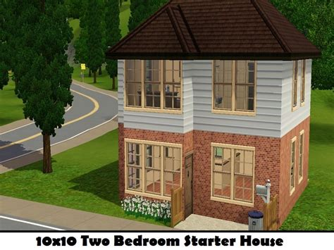 sims 3 starter house plans mahalaf s 10x10 2 bedroom starter house