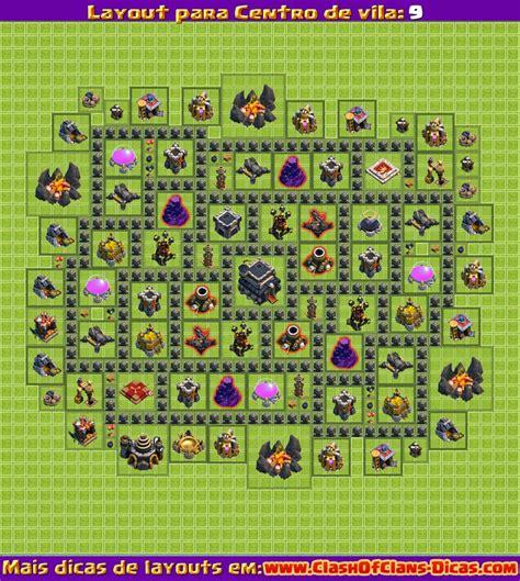 melhores layouts para centro de vila 5 clash of clans melhores layouts para clash of clans centro de vila n 237 vel