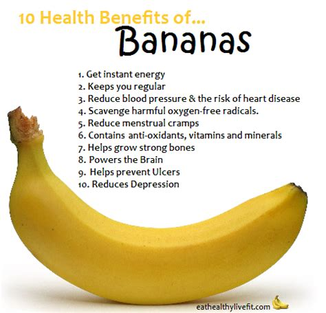 10 Health Benefits Of by 10 Health Benefits Of Bananas Healthy Living