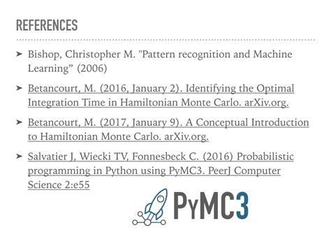 pattern recognition and machine learning github hamiltonian monte carlo in pymc3